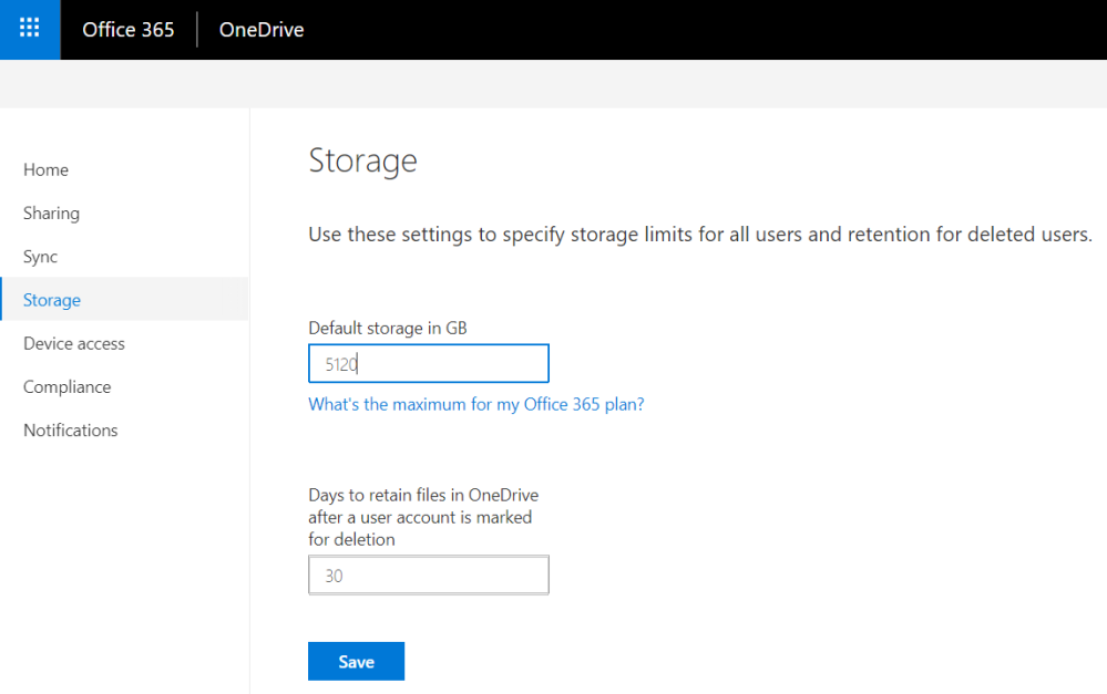 Increase your OneDrive for Business storage to 5 TB per user