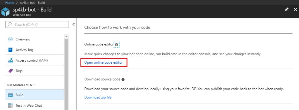 Web App Bot Code Editor