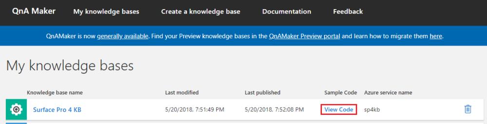 QnA Maker Portal