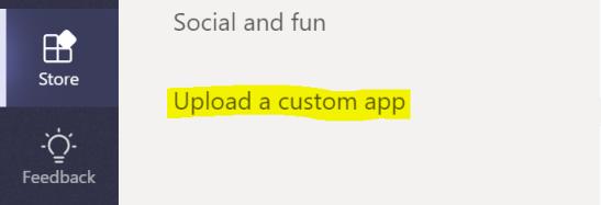 Uploading a custom app